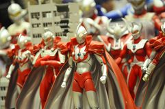 Nombre d'actions de caractère fictif de série populaire japonaise Ultraman photographie stock