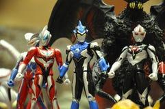 Nombre d'actions de caractère fictif de série populaire japonaise Ultraman photos stock