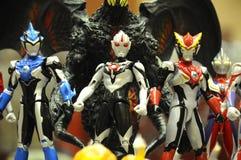 Nombre d'actions de caractère fictif de série populaire japonaise Ultraman images stock
