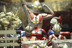 Nombre d'actions de caractère fictif de série populaire japonaise Ultraman photos libres de droits