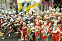 Nombre d'actions de caractère fictif de série populaire japonaise Ultraman images libres de droits