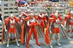 Nombre d'actions de caractère fictif de série populaire japonaise Ultraman photo libre de droits