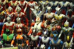 Nombre d'actions fictif célèbre d'Ultraman images libres de droits