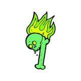 nombre d'os comique de Halloween de bande dessinée Photos libres de droits