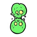 nombre d'os comique de Halloween de bande dessinée Photos stock