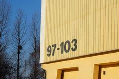 Nombre de bâtiment Photos stock