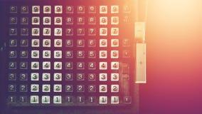 Nombre de calculatrice de vintage, technologie périmée images libres de droits
