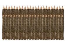 Nombre de crayons peu communs Photographie stock