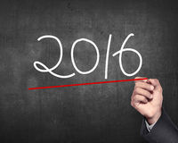 Nombre de l'aspiration 2016 de main Photos stock