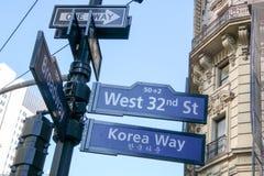 nombre de la calle Foto de archivo