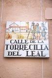 Nombre de la calle de Madrid Fotos de archivo