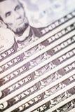 Nombre de los presidentes de América unida en billetes de banco del dólar imagenes de archivo