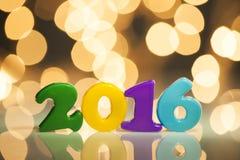 nombre de plastique de 2016 ans Photos stock