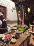 Nombre de poissons dans le restaurant de Zanzibar Images stock