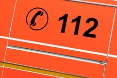 Nombre de téléphone d'urgence Photographie stock