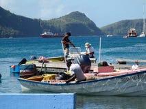 Nombre del barco de los pescados  Imagenes de archivo
