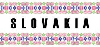nombre del símbolo del país de Eslovaquia Imágenes de archivo libres de regalías
