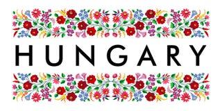 nombre del símbolo del país de Hungría Fotografía de archivo libre de regalías