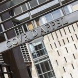 Nombre del tribunal de apelación en la puerta de la entrada Imagen de archivo libre de regalías