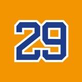 Nombre dorsal 29 Photo stock