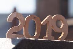 Nombre en bois 2019 Bonne année 2019 photos stock