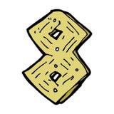 nombre en bois de bande dessinée comique Image stock