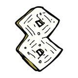 nombre en bois de bande dessinée comique Images libres de droits