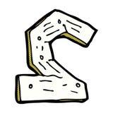 nombre en bois de bande dessinée comique Photo libre de droits