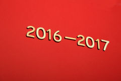 Nombre en bois en 2016-2017 An neuf Images stock