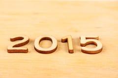 Nombre en bois en 2015. Nouvelle année Photos libres de droits