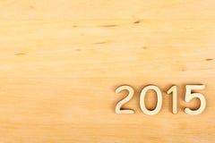 Nombre en bois en 2015. Nouvelle année Photographie stock libre de droits