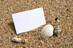 Nombre en la playa Fotografía de archivo