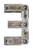 Nombre en métal Photographie stock libre de droits