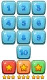 Nombre et symbole pour le jeu illustration libre de droits