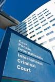 Nombre internacional de la etiqueta del Tribunal Penal Fotos de archivo libres de regalías