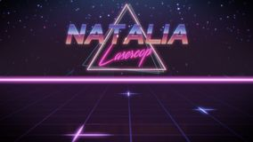 nombre Natalia en estilo del synthwave libre illustration