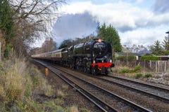 Nombre standard 70000 Britannia de la classe 7 de BR britannique de chemins de fer photographie stock libre de droits