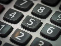 Nombre sur la calculatrice Image stock