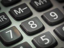 Nombre sur la calculatrice Photo stock