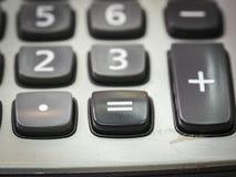 Nombre sur la calculatrice Photographie stock libre de droits