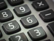 Nombre sur la calculatrice Photos stock