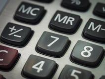 Nombre sur la calculatrice Images stock