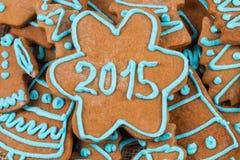 nombre 2015 sur le biscuit Photographie stock