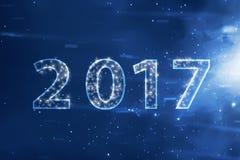 nombre 2017 sur le ciel Photo libre de droits
