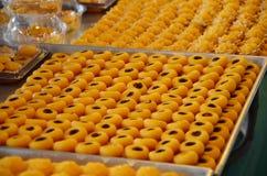 Nombre tailandés propicio SA NEH JAAN de nueve postres Foto de archivo