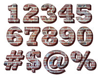 nombres à trois dimensions de brique Photos stock