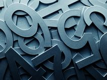 Nombres aléatoires bleus abstraits de texture en métal Images libres de droits