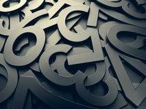 Nombres aléatoires foncés de texture en métal Image libre de droits