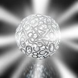 Nombres aléatoires formant une sphère illustration stock