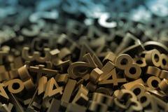 Nombres aléatoires infinis Photo stock